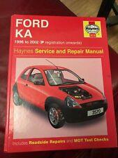 FORD KA 1996 - 2002 (P reg on) Haynes Service Repair Workshop Manual