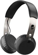 Skullcandy On-Ear Headphones Grind Bluetooth Wireless, Black/Chrome (S5GBW-J539)