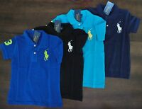 NWT Ralph Lauren Boys S/S Big Pony Classic Solid Mesh Polo Shirt 5 6 7 NEW $40