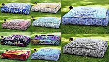 5 PC Wholesale Lot Large Floor Pillow Ottoman Cover Indian Square Cushion Cover