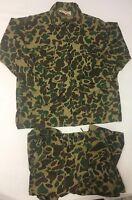 Vtg World Famous Camouflage Suit Pants & Shirt Vtg Hunting Camo
