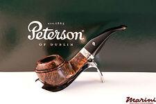 PIPA PIPE pfeife PETERSON OF DUBLIN WICKLOW 80B CURVA RADICA ORIGINALE SILVER