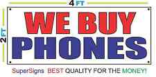2x4 WE BUY PHONES Banner Sign Red White & Blue NEW Discount Size & Price
