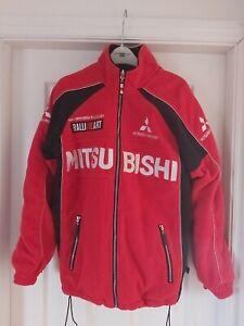 RalliArt Mitsubishi Mens Full Zip Red Racing Fleece Jacket