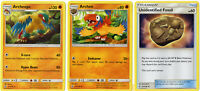 Pokemon Evolution Card Set Archeops 121/236 - Unified Minds - 3 Card Lot
