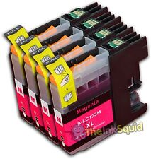 4 Magenta LC123 Ink Cartridges For Brother DCPJ132W DCPJ152W DCPJ552DW non-OEM