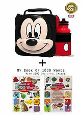 3D Mickey Mouse Lunch Bag Water Bottle StarWar my First 1000 Words Book GIFT Set