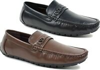 Mens slip on Casual/Formal Stitched Stylish Loafer driving Shoes UK Size 7-12