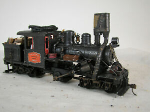 On30 Climax Logging Steam Locomotive - custom weathered TSU DCC * SOUND LOT 2