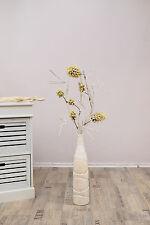 Zweig Kolben Frucht Ast weiß grün braun 75 cm Kunstpflanze Pflanze künstlich