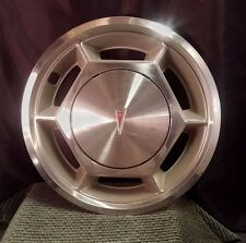 "1976 Pontiac 13"" Sunbird Hub Cap Wheel Cover ~ Chrome & Plastic ~Red Shield Logo"