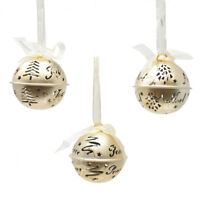 Joy Noel And Peace Hanging Metal Bell Christmas Ornaments 2 1 2 Inch 3 Piece For Sale Online