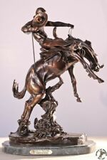 Bronco Twister Collectible Solid Bronze Sculpture Statue By C. M. Russel Large