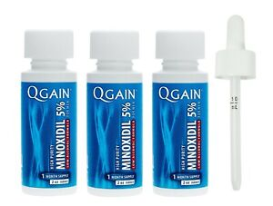 Qgain High Purity Minoxidil 5% for MEN LOW ALCOHOL FORMULA 3 month supply
