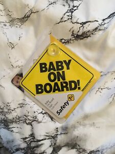 baby on board suction Cup Car Safety Sticker