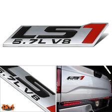 """""""5.7L LS1""""Polished Metal 3D Decal Black&Red Emblem Sticker For Chevrolet/Pontiac"""