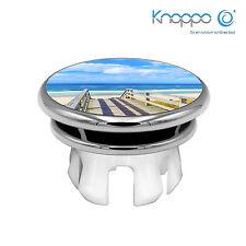 KNOPPO® Waschbecken Überlaufblende / Abdeckung - Mirror Meerblick Motiv (chrom)