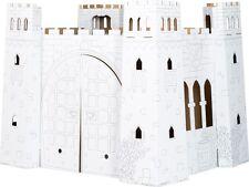 Spielhaus Burg aus Bastelkarton ca. 92 x 73 x 76 cm Pappburg zum Basteln