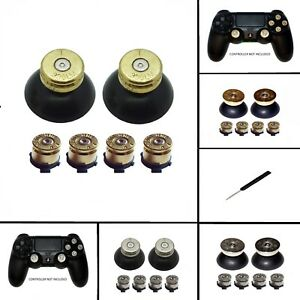 Replacement Bullet Action Buttons,Thumbs & Solid Thumbs for PS4 Controller Shell