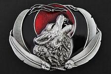 Gothic Howling Wolf Moon in Metallo Fibbia di Cintura