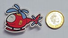 Plane Helicopter Acrylic Badge - Pin Badges - Backpack - Brooch -UK Stock