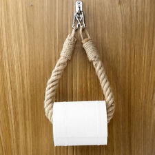 Wall Mounted Paper Holder Jute Rope Vintage Weave Towel Hanging Rope Bathroom