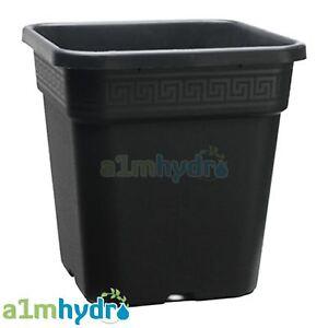 Atami Wilma Systems Square Plant Pot Premium Black Plastic Garden Hydroponics