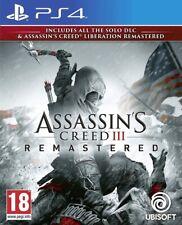 ASSASSIN'S CREED III REMASTERED PLAYSTATION PS4 SONY ITALIANO MULTILINGUE