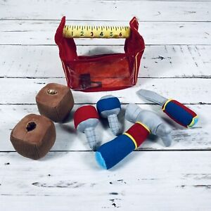 Melissa and Doug Soft Plush Toolbox and Tools Fill And Spill Play Set Kids Toy