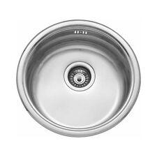 Stainless Steel 450mm Diameter Round Inset Single Bowl Kitchen Sink