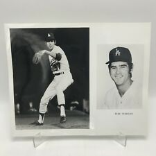 "MIKE STRAHLER - Los Angeles Dodgers Baseball - 2 Photographs on 8"" x 10"" Page"
