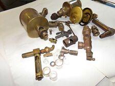 Assorted vintage drip oiler parts brass