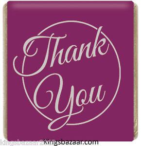 1000x Purple Thank You Neapolitan Chocolates Favours Individual Foil Wrapped