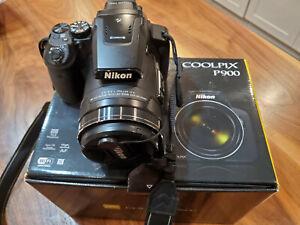 Nikon COOLPIX P900 16MP Compact Digital Camera - Black 83x Optical SuperZoom
