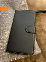 Bozon Leather Wallet Folio Case- iPhone 7/8 plus - black - no retail packaging