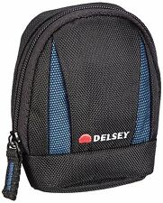Delsey GOPIX 102 Case Bag Pouch Holdall for Compact Camera MP3 Player Black/Blue