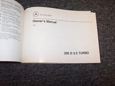 1993 Mercedes Benz 300D 2.5 Diesel Turbo Owner Owner's Operator Manual 2.5L