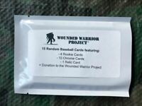 Mystery baseball HOT PACK 15 cards + relic hit + Wounded Warrior  donation
