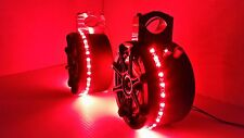 "UTV KICKER 6 1/2"" Stereo Speakers w/ RED LEDs Wakeboard Tower Can Am RZR Rhino"