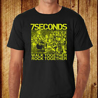 New 7 Seconds Walk Together Rock Together Men's Black T-Shirt Size S to 3XL