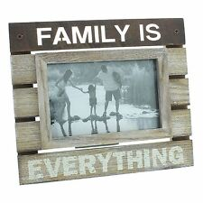 "New View Wooden Panel Photo Frame 6x4"" Family Is Everything"