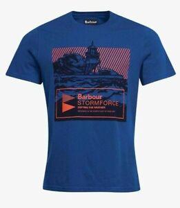BARBOUR Men's BREAK T-Shirt TAILORED FIT (MONACO BLUE) (LARGE) BNWT - RRP £32.95