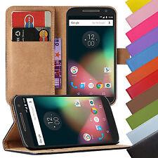 Book Case Handy Hülle aus Kunstleder für Motorola Moto Handy Tasche Schutz Hülle