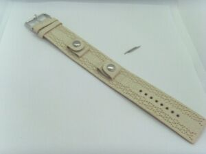 Fossil Original Spare Leather Strap JR9010 Watch Band Watch Strap Beige 16 MM