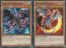 Red-Eyes Wyvern SR02-EN010 + Eclipse Wyvern SR02-EN015 1st  Mint SET YUGIOH