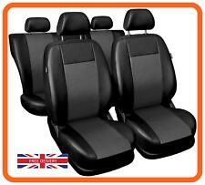 Leatherette car seat covers full set fit MITSUBISHI ASX Eco-leather  black/grey