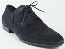 New  Cesare Paciotti Lace Up Navy Suede Shoes UK 10 US 11