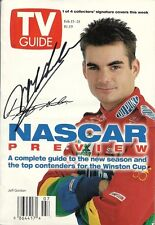 FEBRUARY 1997 NASCAR EDITION OF TV GUIDE MAGAZINE JEFF GORDON COVER SIGNED