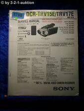 Sony service manual clés prévues trv15e/trv17e Level 2 digital video camera (#5788)
