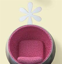 FLOWER mirror wall sticker 1 big peel & stick decal light weight acrylic bloom